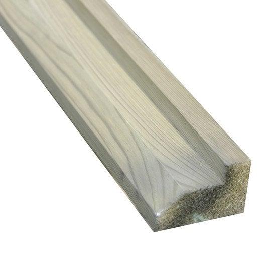 Poutre de sol en bois x h 4 5 x p 7 cm leroy merlin for Bois autoclave classe 4 leroy merlin