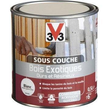 Sous-couche bois exotique, Blanc V33 0.5 l