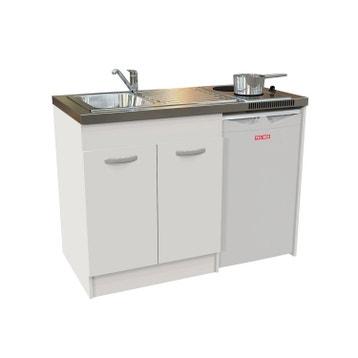 kitchenette electrique blanc spring h925 x l120 x p60 cm