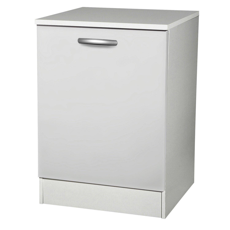 meuble de cuisine bas 1 porte blanc h86x l60x p60cm