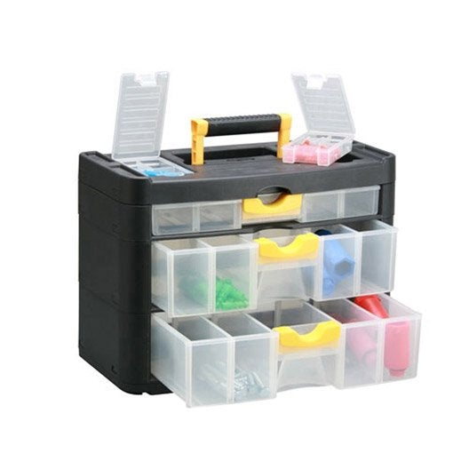 casier vis en plastique 3 tiroirs haut 28 8 x larg 40 x prof 20 cm leroy merlin. Black Bedroom Furniture Sets. Home Design Ideas