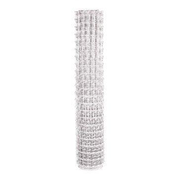 Grillage maille blanc H.1.2 x L.20 m, maille de H.48 x l.33 mm