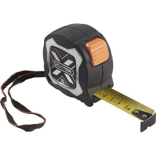Mètre ruban acier inox DEXTER 5 m