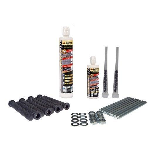 Maxi kit de chevilles chimiques pour store de terrasse