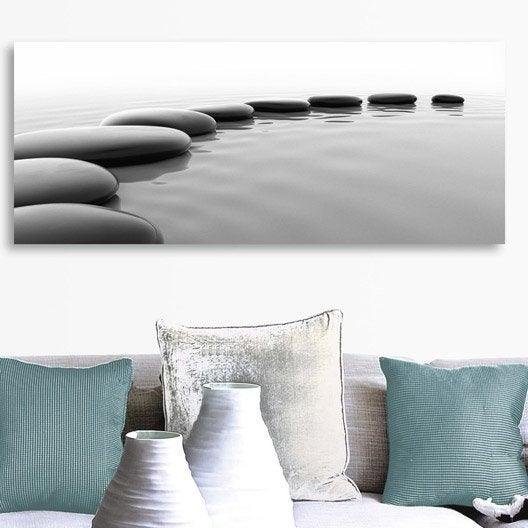 best verre imprim meditation arena deco glass l x h cm with tableau en verre leroy merlin with. Black Bedroom Furniture Sets. Home Design Ideas