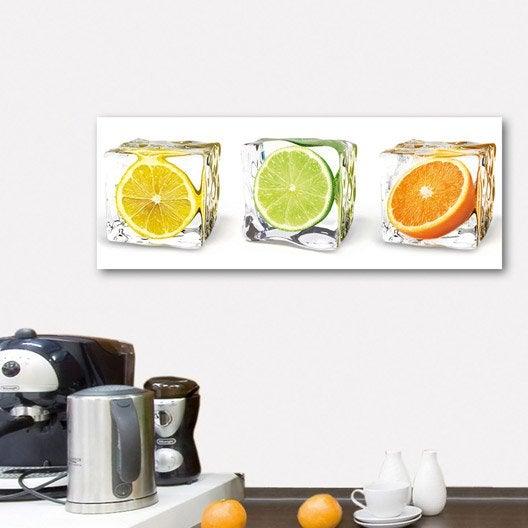 Verre imprim fruits in cubes deco glass x cm for Miroir 90x30