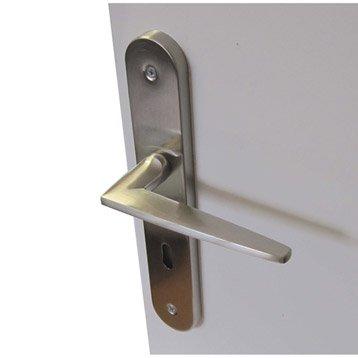 2 poignées de porte Dina trou de clé, acier, 195 mm