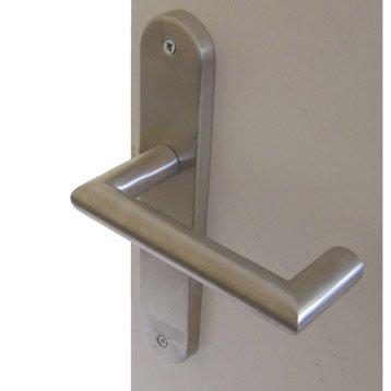 2 poignées de porte Toda sans trou, acier inoxydable, 195 mm