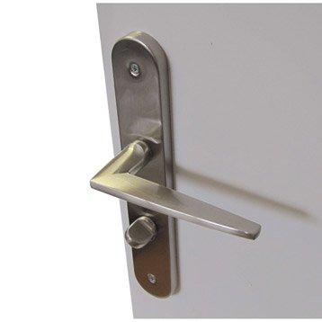 2 poignées de porte Dina condamnation / décondamnation, acier, 195 mm