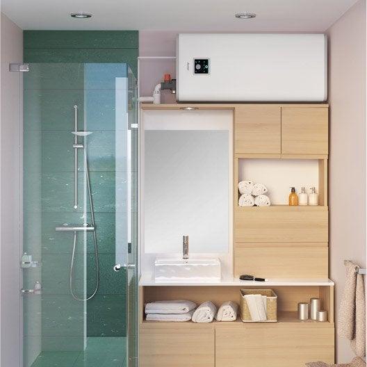chauffe eau plat lectrique horizontal ou vertical sauter guelma 65 l leroy merlin. Black Bedroom Furniture Sets. Home Design Ideas
