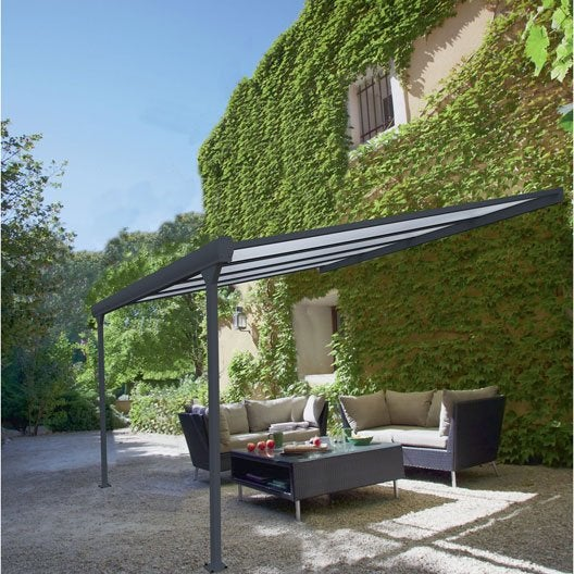 pergola adoss e aluminium moins de 12 m leroy merlin. Black Bedroom Furniture Sets. Home Design Ideas