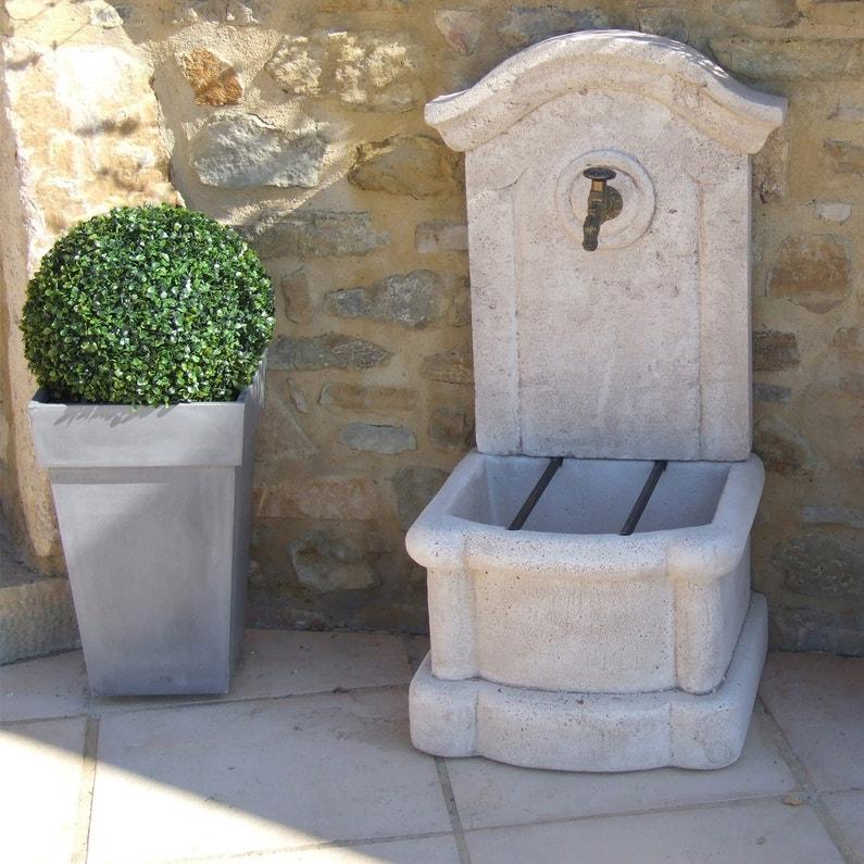 Fontaine En Pierre Reconstituée Pierre Vieillie