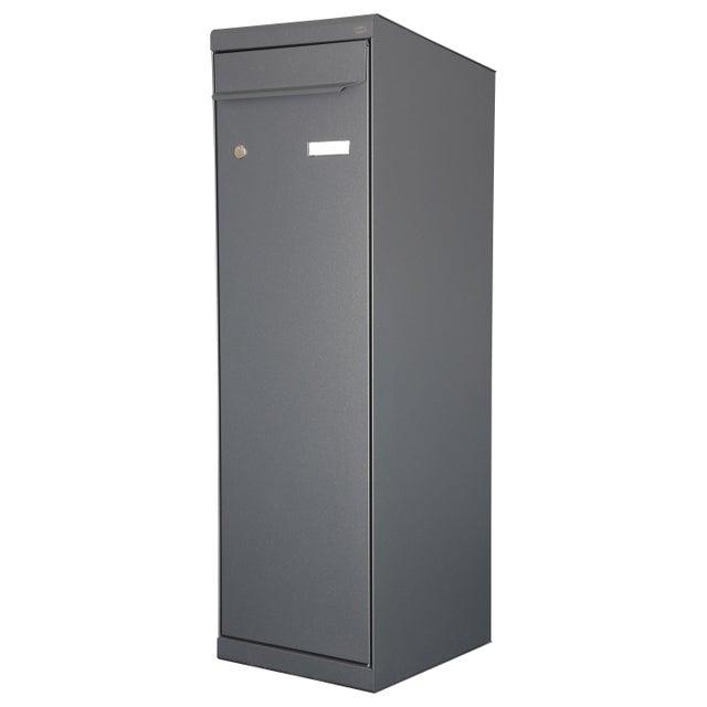 Boîte à Colis Normalisée 1 Porte Extérieur Renz Modèle Xl Acier Gris