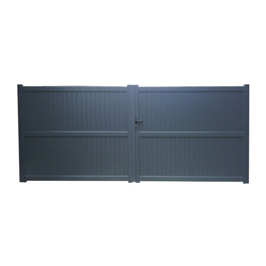 Portail battant aluminium noyal gris anthracite naterial for Portillon alu gris anthracite