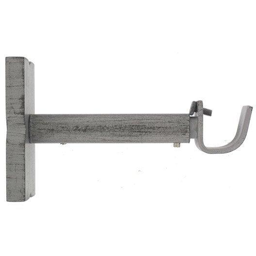 lot de 2 supports sans per age tringle rideau cosy 20 mm gris patin ib leroy merlin. Black Bedroom Furniture Sets. Home Design Ideas