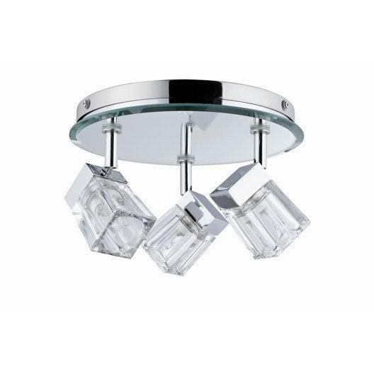Plafonnier 3 spots fixer trabani paulmann halog ne 3 x for Plafonnier salle de bain leroy merlin