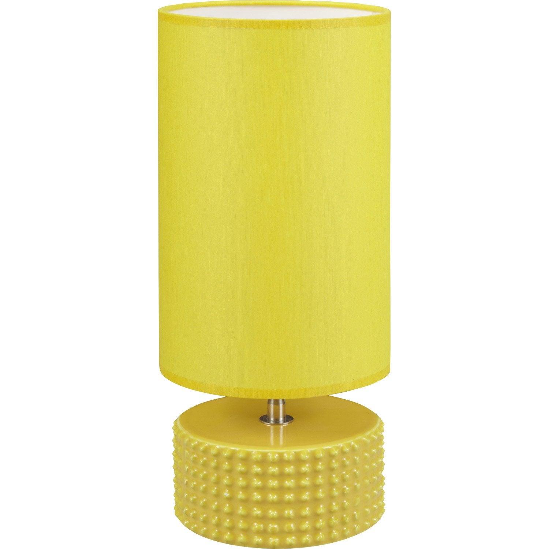 lampe e27 katus coton jaune 60 w leroy merlin. Black Bedroom Furniture Sets. Home Design Ideas