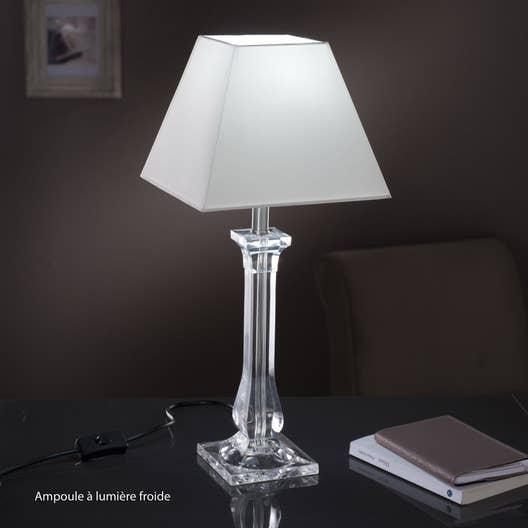 pied de lampe fantasy acrylique transparent 39 cm leroy merlin. Black Bedroom Furniture Sets. Home Design Ideas