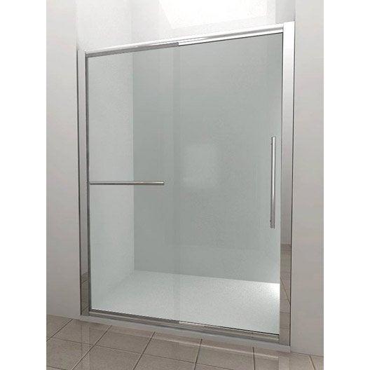 porte de douche coulissante breuer palerme verre de s curit transparent leroy merlin. Black Bedroom Furniture Sets. Home Design Ideas
