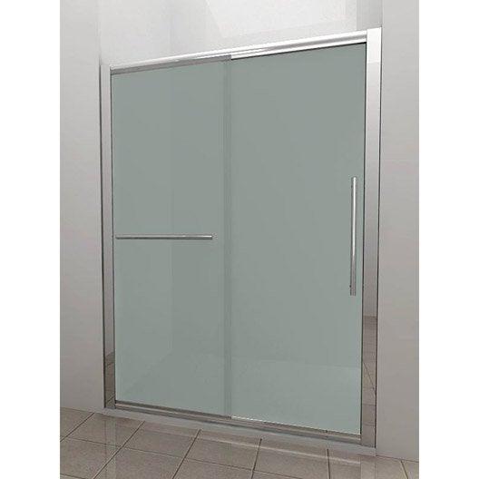 Porte de douche coulissante BREUER Palerme verre de