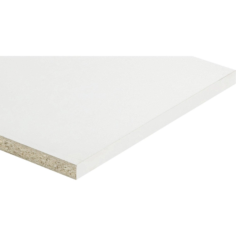 Planche Mélaminé Blanc Castorama tablette agglomérée blanc, l.200 x l.40 cm x ep.16 mm