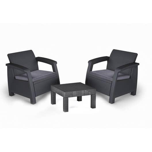 salon de jardin bahamas r sine inject e anthracite 2. Black Bedroom Furniture Sets. Home Design Ideas