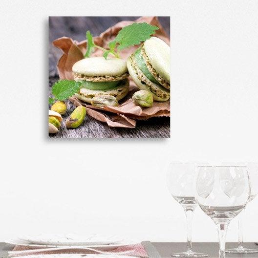 Verre imprim macarons pistache deco glass x cm leroy merlin - Tableau en verre leroy merlin ...