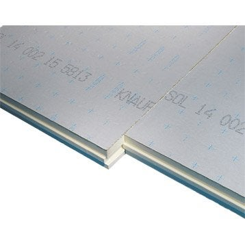 Panneau en polyuréthane  KNAUF 1.2x1m, Ep.101mm, lambda 22, R=4.65