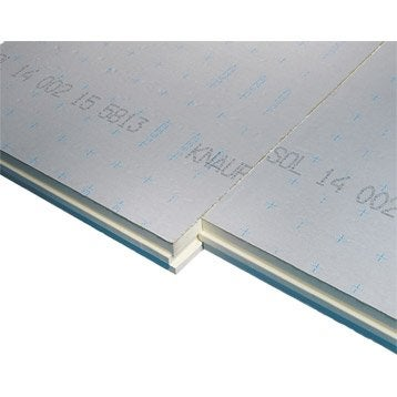 Panneau en polyuréthane  KNAUF 1.2x1m, Ep.61mm, lambda 22, R=2.8