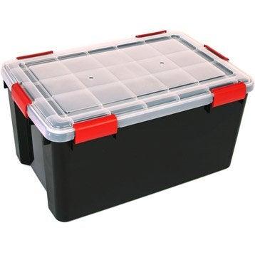 Malle à monter Air tight box plastique , l.39 x P.59 x H.29 cm