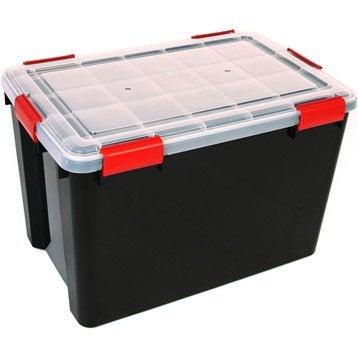 Malle à monter Air tight box plastique , l.39 x P.59 x H.38 cm