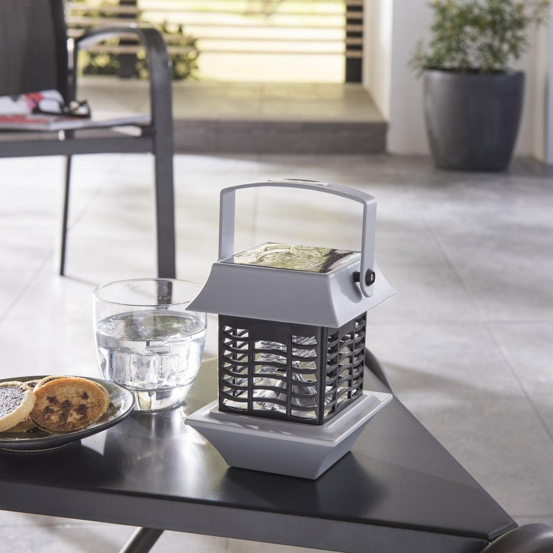 photophore antimoustique solaire jecko 2 lm gris inspire leroy merlin. Black Bedroom Furniture Sets. Home Design Ideas