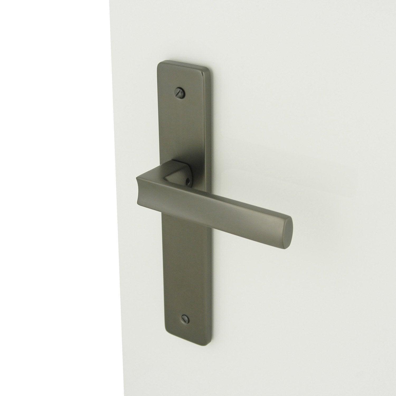 2 poign es de porte velizy sans trou inspire aluminium 195 mm leroy merlin. Black Bedroom Furniture Sets. Home Design Ideas