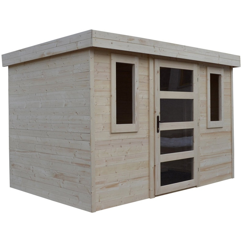 design intemporel eb528 ad393 Abri de jardin bois ESPACE ET NATURE Fauville Ep.19 mm, 5.5 m²