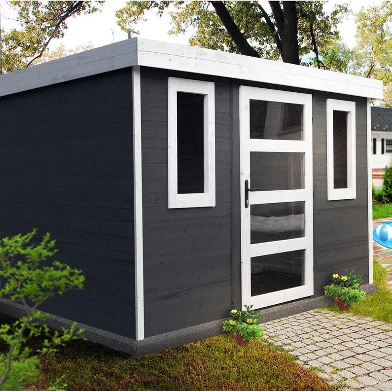 Abri de jardin bois ESPACE ET NATURE Fauville Ep.19 mm, 5.5 m²