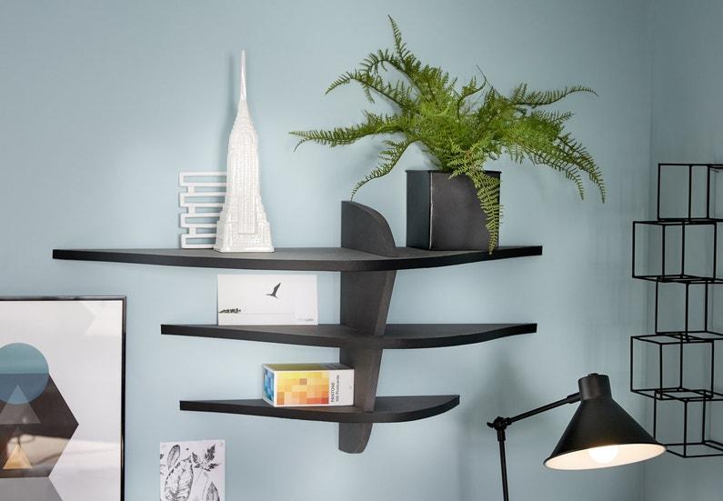 une tag re originale dans votre bureau leroy merlin. Black Bedroom Furniture Sets. Home Design Ideas