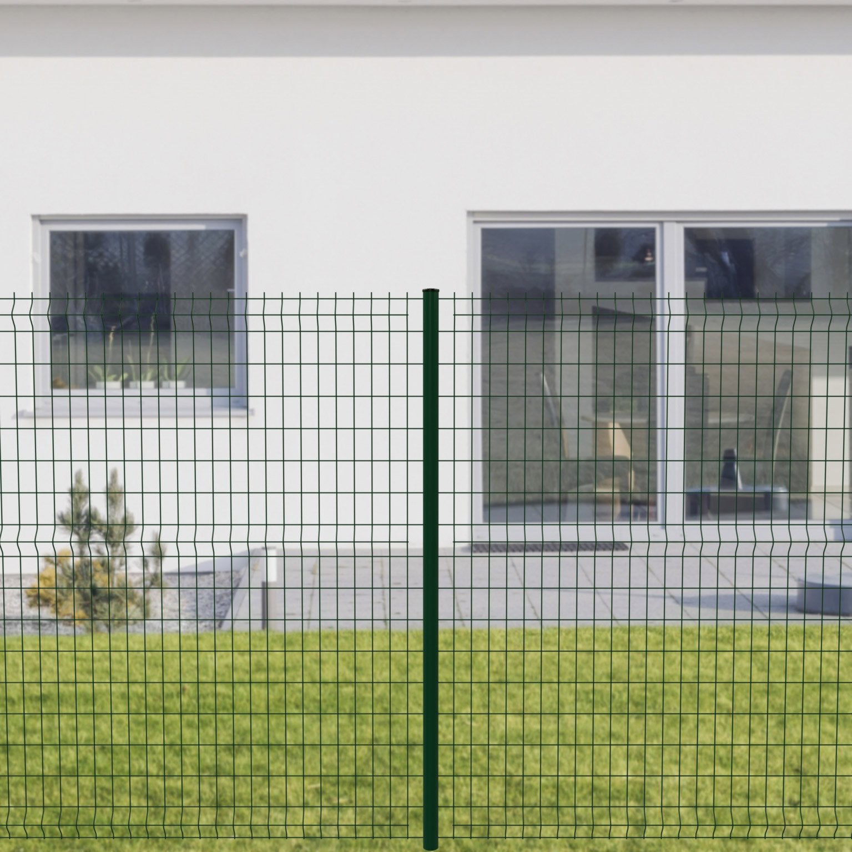 Brise Vue Hauteur 1M70 grillage panneau soudé cerista s vert h.1.72 x l.2.48m, maille 100x55mm