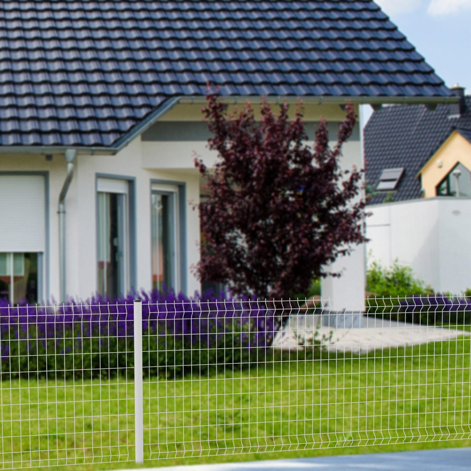 Petite Cloture De Jardin Blanche grillage panneau soudé cerista s blanc h.1.00 x l.2.48m, maille 100x55mm