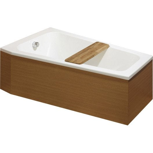 Baignoire porte baignoire douche baignoire leroy merlin for Baignoire rectangulaire 160x90