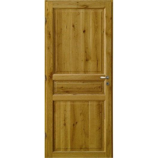 bloc porte ch ne vernir brive poussant gauche 204 x 73 cm. Black Bedroom Furniture Sets. Home Design Ideas