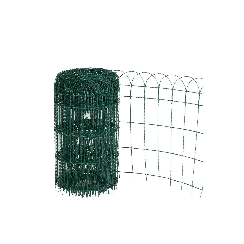 Bordure grillagée soudé Armor vert, H.0.65 x L.10 m, maille H.125 x ...