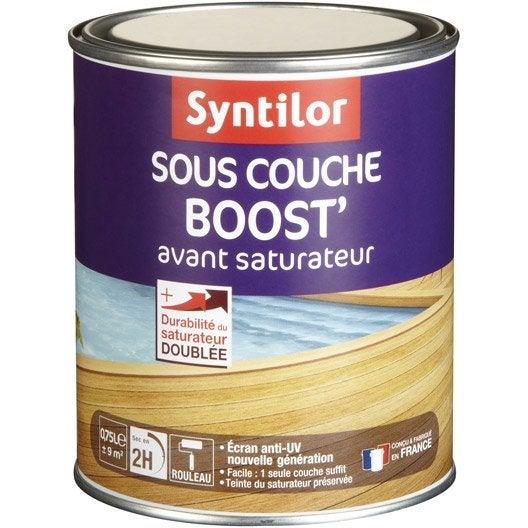 Sous couche saturateur bois boost 39 syntilor incolore for Sous couche bois exterieur