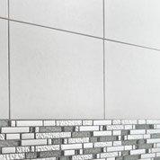 Carrelage mural Fly Aéro en faïence, gris clair, 25 x 40 cm