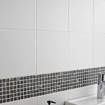 Faïence mur blanc, Basic l.20 x L.20 cm