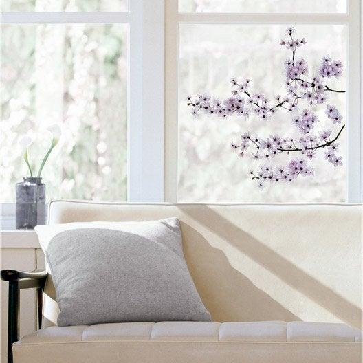 Sticker cerisier en fleurs 24 cm x 69 cm leroy merlin - Vitre plexiglas leroy merlin ...