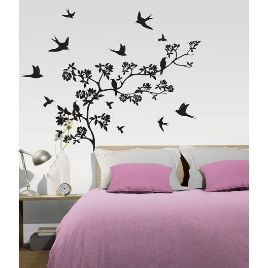 sticker paradise 47 x 67 cm leroy merlin. Black Bedroom Furniture Sets. Home Design Ideas