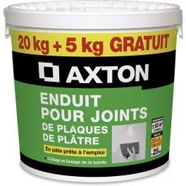 Enduit pour joint en pâte AXTON, 20 Kg + 5Kg gratuit