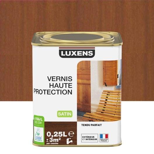 vernis ext rieur bois luxens ch ne fonc aspect satin l. Black Bedroom Furniture Sets. Home Design Ideas