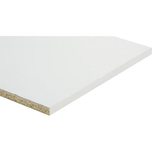 Tablette m lamin super blanc spaceo x cm x ep - Panneau melamine blanc brico depot ...
