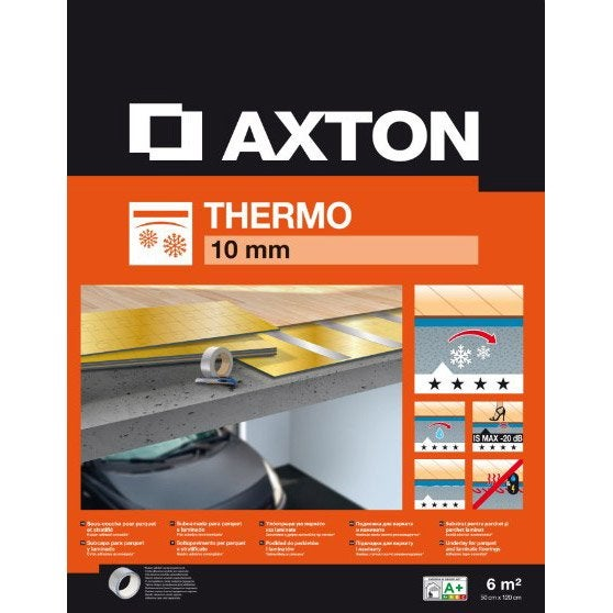 sous couche parquet et sol stratifi thermo mm axton 6 m leroy merlin. Black Bedroom Furniture Sets. Home Design Ideas